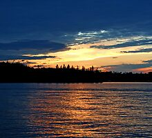 June Sunset On Caddy Lake by Vickie Emms