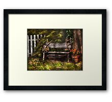 A seat for a little guy  Framed Print