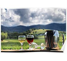 White port and red wine Poster