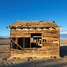 Apple valley shack in colour by Dave Hare