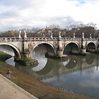 Ponte Sant'Angelo by Robert Brown