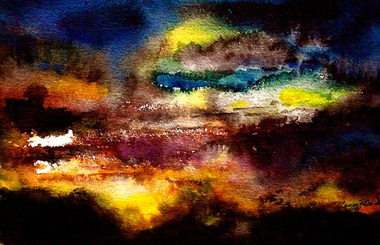 Abstract...Midnight on Egdon Heath by © Janis Zroback