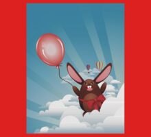 Chocolate Bunny with Balloon Kids Clothes