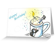 Frothy Wishes Greeting Card