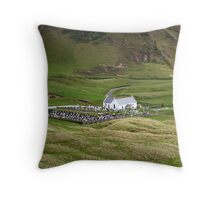Lagg church view Throw Pillow