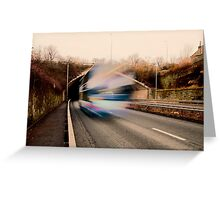 Speedy Bus Greeting Card