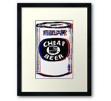 Fidlar Cheap Beer Framed Print