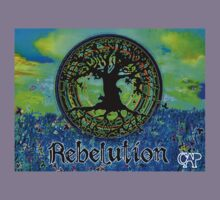 Rebelution Tree of Life #2 'Illuminated Side of Life' Beautiful Vibrant Moonlit SkyScape Band Art Psychedelic Landscape Design by CAP Kids Clothes