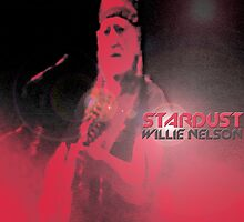 Redesign of Willie Nelson's Stardust album cover by Zack Nichols