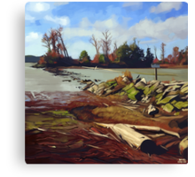 Shady Island - Steveston BC Canvas Print