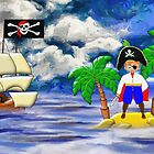Toon Boy No 20 a Pirate Boy scene - all products by Dennis Melling