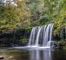 Waterfall in the Brecon Beacons by granthyatt
