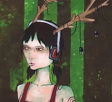 Deer Girl Music (detail) by Endofmarch