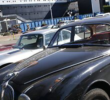 UK Jaguar Enthusiast Route 66 - Clear blue morning Queen Mary 2008; Long Beach, CA USA by leih2008