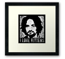 I Love Kittens Framed Print