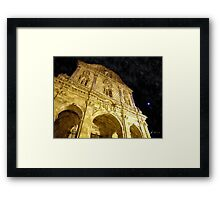 Sassari: facade of the cathedral Framed Print