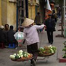 peoplescapes #134, vegetables over the shoulder by stickelsimages