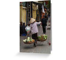 vegetables over the shoulder : 535 views Greeting Card