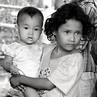 Khmer Girls b/w by Kate Harrison