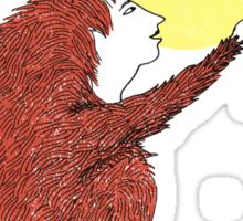 Raven and Fox Sticker