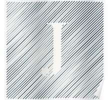 Striped J Poster