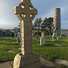 Celtic cross at Clonmacnoise by John Quinn