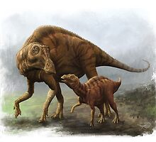 Maiasaura by Jeff Powers Illustration