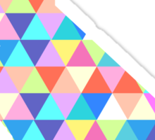 California Love - Colorful Triangles Sticker