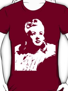 Betty Grable In Victory Rolls T-Shirt