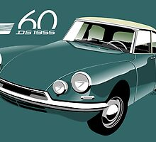 Citroën DS19 60 years green by car2oonz