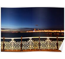 Brighton at Night Poster