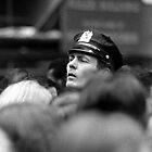 Manhattan. Street scene, 1974. Cop on the beat. by Daniel Sorine