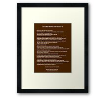 I Am A Baby Boomer and Proud Of It - Word Art Framed Print