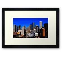 Downtown Houston Painted Framed Print