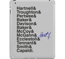 DOCTOR WHO THE DOCTORS' NAMES iPad Case/Skin