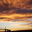 cityscapes #128, big sunset over west gate by stickelsimages