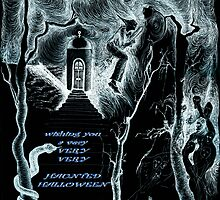 Haunted Halloween card - inverted by Gili Orr
