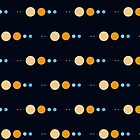 Planets to scale pattern by jezkemp