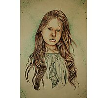 Girl with Green Photographic Print