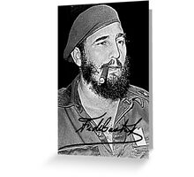 Young  revolutionair Fidel Castro  Greeting Card