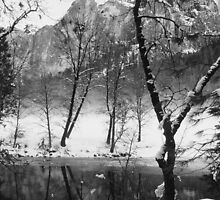 MERCED RIVER,WINTER by Chuck Wickham