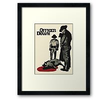 Officer Down Framed Print