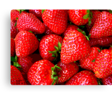 It's all in Strawberries Canvas Print