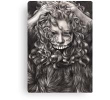 girl, invisible monsters Palahniuk, horror, face, dark, eyes Canvas Print