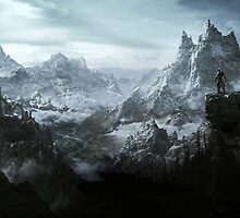 The Elder Scrolls V - Skyrim landscape by ghoststorm