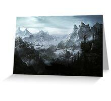 The Elder Scrolls V - Skyrim landscape Greeting Card