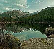 Long's Peak from Bear Lake by Gary Lengyel
