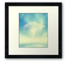 Christian Glowing Cross Framed Print
