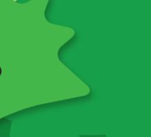 Cute little GREEN Dinosaur Sticker