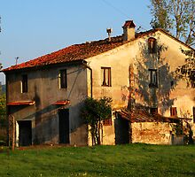 Tuscan farmhouse by bevanimage